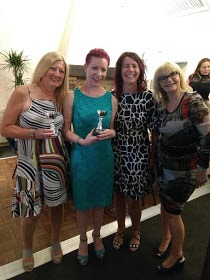 A group of women at awards night at Work Wise Women, Grimsby