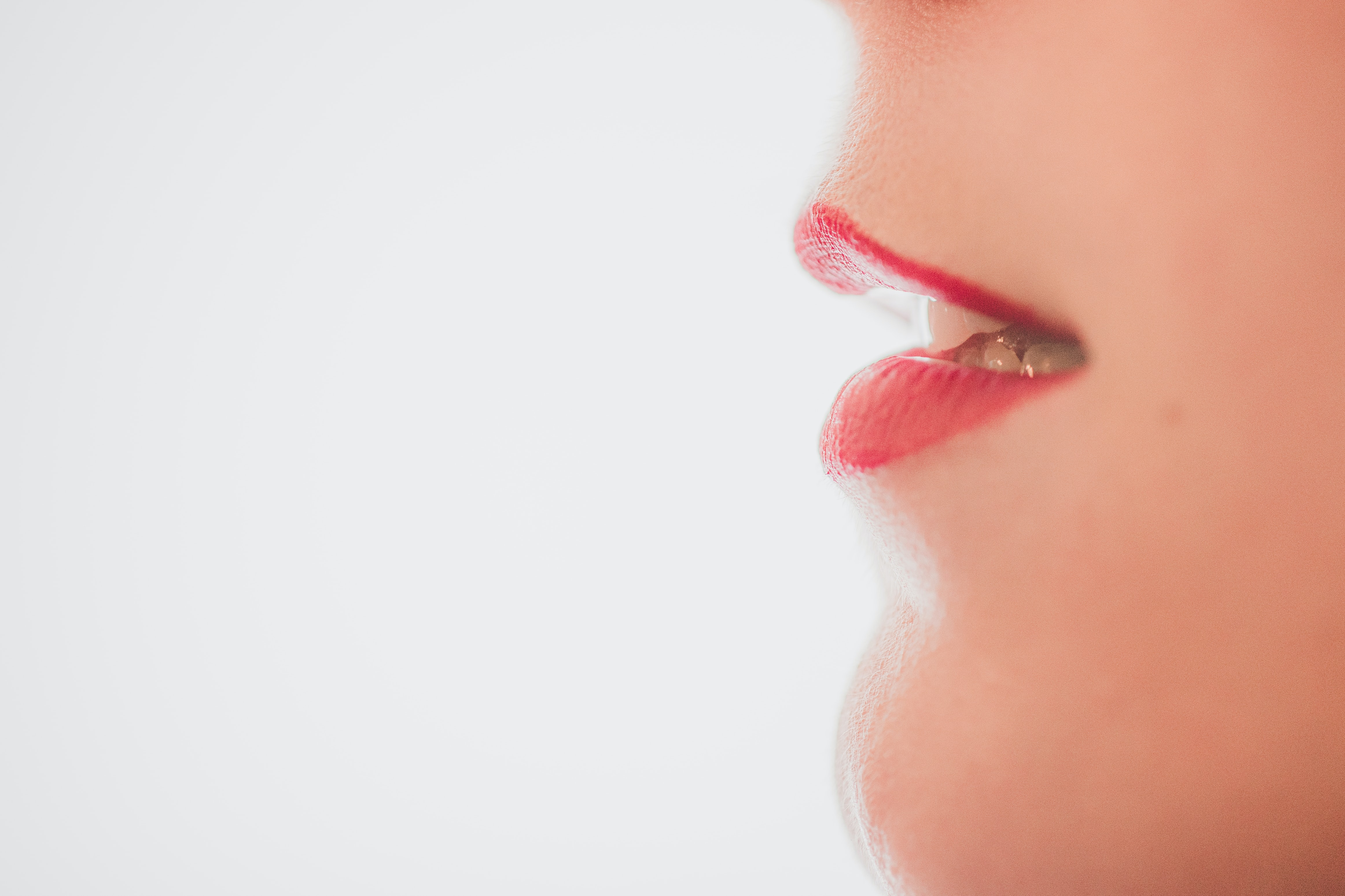A woman's mouth. Liz Drury Voiceovers